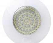 "5.6"" Round Dome Light LED Fixture with 3 Position Switch: Front View"