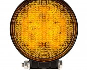 Round 18W Heavy Duty High Powered Amber LED Vehicle Strobe Light: Front View