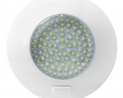 5.5 Watt Round Dome Light LED Fixture with 3 Position Switch: Front View