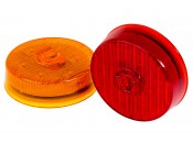 M4PC series 2.5in Round LED Marker Lamp: Available In Red & Amber