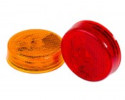 M4R series 2.5in Round LED Marker Lamp: Available In Red & Amber