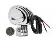 """2"""" Round 10 Watt LED Mini Auxiliary Work Light: Back View With Size Comparison"""