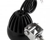 """3.25"""" Round 18 Watt LED Mini Auxiliary Work Light: Back View With Mounting Screw"""