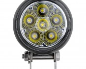 "3.25"" Round 18 Watt LED Mini Auxiliary Work Light: Front View"