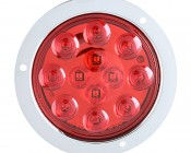 "Round LED Truck Trailer Light - 4"" LED Stop Turn Tail Light with 12 LEDs: Front View"