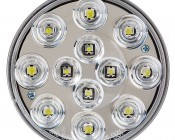 "Round LED Truck Trailer Back-Up Lights - 4"" LED Reverse Light with 12 LEDs: Front View"