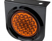 """Round LED Truck Trailer Light with Built In Bracket - 4"""" LED Stop Turn Tail Light with 24 LEDs"""