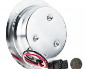 """Round LED Truck Trailer Light - 4"""" LED Stop Turn Tail Light with 12 LEDs: Back View With Size Comparison"""