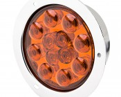 """Round LED Truck Trailer Light - 4"""" LED Stop Turn Tail Light with 12 LEDs"""