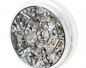"""Round LED Truck and Trailer Lights with Clear Lens - 4"""" LED Brake/Turn/Tail Lights w/ 17 High Flux LEDs - 3-Pin Connector"""