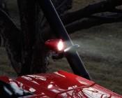 "2"" Round Red 10 Watt LED Mini Auxiliary Work Light Installed on Red UTV"