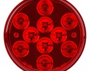 """Round LED Truck Trailer Light - 4"""" LED Stop Turn Tail Light with 10 LEDs: Front View"""