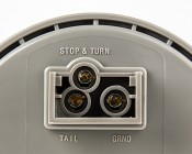 """Round LED Truck Trailer Light - 4"""" LED Stop Turn Tail Light with 10 LEDs: Close Up Of Power Connection Points"""