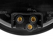 ST series Round Stop/Tail/Turn LED Truck Lamp: Close Up Of Power Connector Points