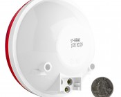 ST-HB40 series High Brightness Round Stop/Tail/Turn LED Truck Lamp: Back View With Size Comparison