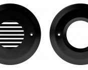 Face Plate for Round LED Step Light - Open Window or Louvered: Front View