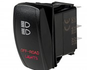LED Rocker Switch with Legend - Off-Road Lights Switch