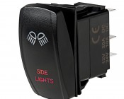 LED Rocker Switch with Legend - Side Lights Switch: Optional Legend Illumination