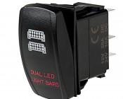 LED Rocker Switch with Legend - Dual LED Light Bars Switch: Optional Legend Illumination