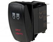 LED Rocker Switch with Legend - Spot Lights Switch: Optional Legend Illumination