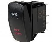 LED Rocker Switch with Legend - Roof Lights Switch: Optional Legend Illumination