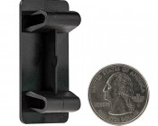 Modular Rocker Switch Bracket Hole Cover: Back View With Size Comparison