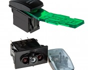 LED Rocker Switch with Legend - Rear Lights Switch: Push Remover Tool (RSC-RT) Under Actuator To Remove