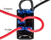 LED Rocker Switch with Legend - Rear Lights Switch: Wired To Battery, Light, & Ground