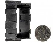 Modular Rocker Switch Bracket - Middle Panel: Back View With Size Comparison