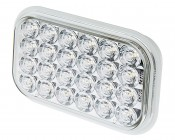 "Rectangle LED Truck and Trailer Back-Up Light - 5"" LED Reverse Light with 24 High Flux LEDs - 3-Pin Connector"