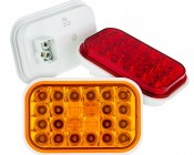 "Rectangle LED Truck Trailer Light - 5"" LED Stop Turn Tail Light with 24 LEDs: Available In Red, Amber, & White"