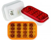 "Rectangle LED Truck Trailer Light - 5"" LED Stop Turn Tail Light with 16 LEDs: Available In Red, Amber, & White"