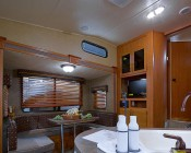 578 CAN Bus LED Bulb - 8 LED Festoon - 44mm: Shown Installed In RV Kitchen Area Overhead Fixture.
