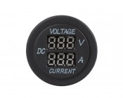 Digital Voltmeter and Ammeter for LED Rocker Switch Panels: Front View
