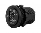 Digital Voltmeter and Ammeter for LED Rocker Switch Panels