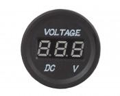 Digital Voltmeter for LED Rocker Switch Panels: Front View