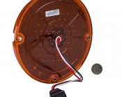 """Round LED Transit Bus Tail Lights - 7"""" LED Stop Turn Tail Light with 61 LEDs: Back View with Size Comparison"""