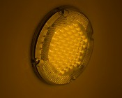 """Round LED Transit Bus Tail Lights - 7"""" LED Stop Turn Tail Light with 61 LEDs: Turned On"""