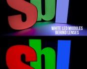 Single Color LED Module - Square Constant Current Sign Module w/ 4 SMD LEDs - 75 Lumens/Module