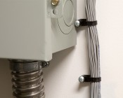 Black Cable Ties - 10 Pack - 16 Inch Long Stud Mount: Mounted to Wall Next to Breaker Box in Electrical Room