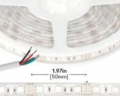 Outdoor RGB LED Strip Lights - Waterproof 12V LED Tape Light - 97 Lumens/ft.
