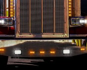 Rectangular H4651 LED Projector Headlights - LED Headlights Conversion - Sealed Beam: Installed in Peterbilt Semi Truck. Low Beam Headlight is H6545
