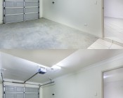 30W LED Shop Light/Garage Light - 2' Long: Shown Installed Via Hardwire (Top) And Via Wall Plug (Bottom).