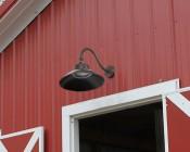 LED Gooseneck Barn Light - 42W - 4000K/3000K - 3,700 Lumens: On Side Of Barn