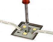 Single Color LED Module - Square Sign Module w/ 3 SMD LEDs: Screwdriver