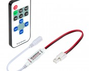 Single Color LED Mini Dimmer with Dynamic Modes - RF Remote, LC2 Connector
