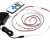 Single Color LED Mini Dimmer with Dynamic Modes - RF Remote, LC2 Connector: Shown Connected To LC2 LED Strip.