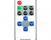 Single Color LED Mini Dimmer with Dynamic Modes - RF Remote, LC2 Connector: Showing Remote Face Detail.