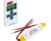 Single Color LED Waterproof Mini Dimmer with Dynamic Modes - RF Remote, 10A