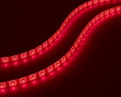 Battery Powered LED Light Strips Kit - Single Color - 2 Portable LED Light Strips: Showing Strips On In Red, Amber, Yellow, Green, Blue, UV, Pink, Warm White, Natural White, And Cool White.